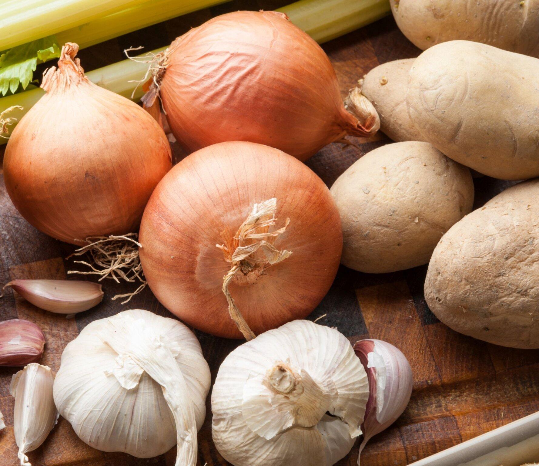 Onion, Potato, Garlic